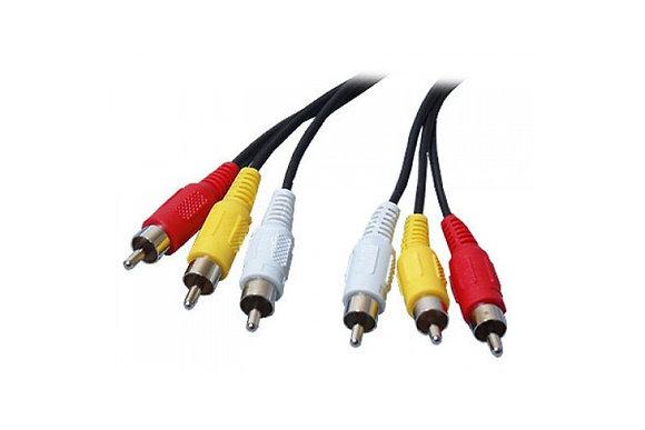 3 RCA - 3 RCA папа-папа AV кабель, тюльпаны, 3 м
