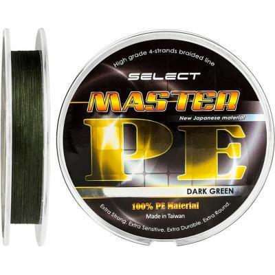 Шнур Select Master PE 150m 0.12мм 15кг (1870.01.73)