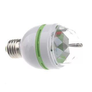 Диско лампа вращающаяся светодиодная, E27 LED RGB 3Вт