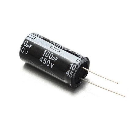 10x Конденсатор электролитический алюминиевый 100мкФ 450В 105С