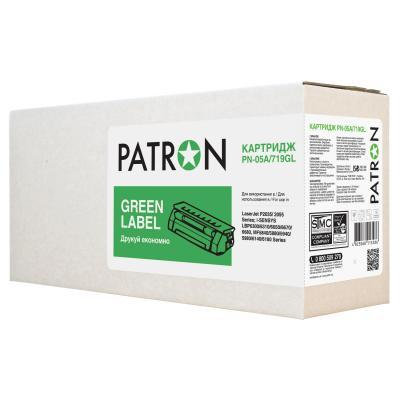 Картридж PATRON HP LJP2055 (CE505A) CANON719 GREEN Label (PN-05A/719GL)