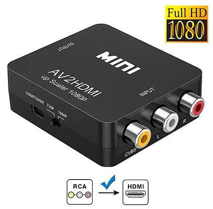 AV RCA - HDMI конвертер видео, аудио, FullHD 1080p, черный