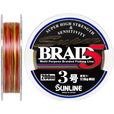 Шнур Sunline Super Braid 5 200m #3.0/0.27мм 17кг (1658.05.89)