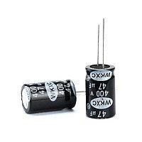 10x Конденсатор электролитический алюминиевый 47мкФ 400В 105С