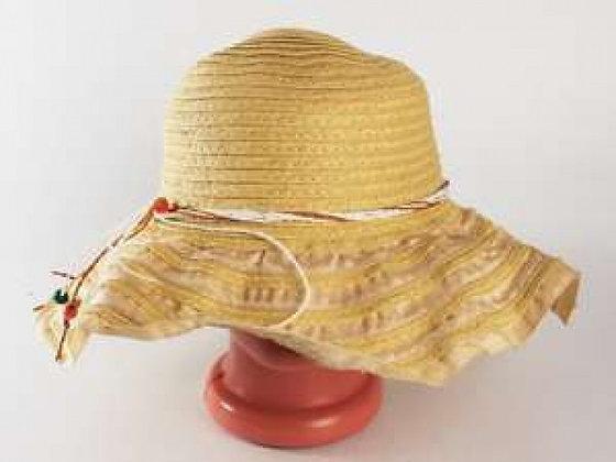 Соломенная шляпа Нэтьюэль 40 см бежевая