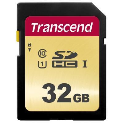 Карта памяти Transcend 32GB SDHC class 10 UHS-I U1 (TS32GSDC500S)