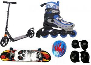 Коньки, ролики, скейтборды,