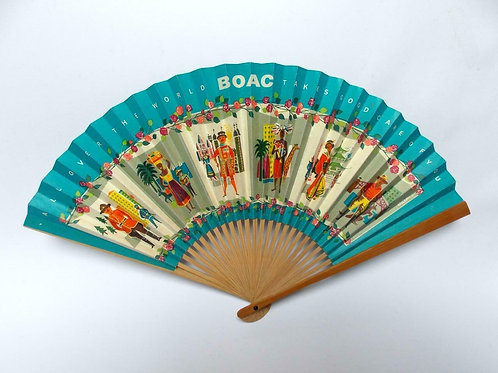 B.O.A.C.PROMO GIVEAWAY PAPER & BAMBOO FAN