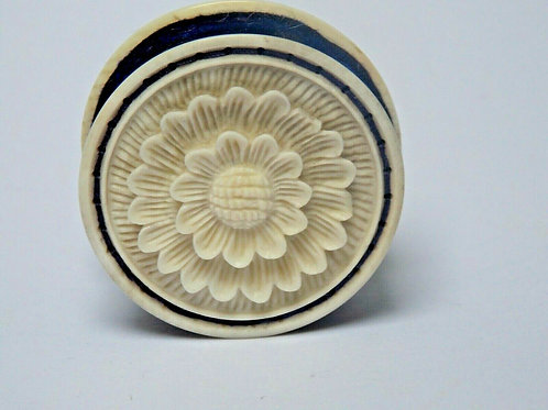 VICTORIAN CARVED IVORY PIN CUSHION