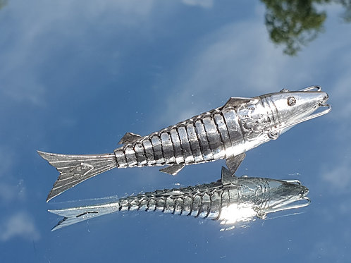 VICTORIAN SOLID SILVER ARTICULATED FISH
