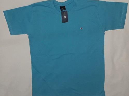 camiseta TOMMY bordada azul