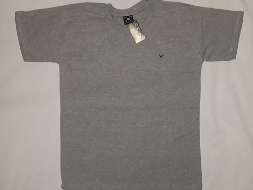 camiseta POLO PLAY bordada cinza