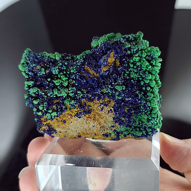 Azurite with Malachite - Campbell Shaft, Bisbee, Arizona