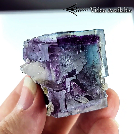 Fluorite with Quartz - Yaogangxian Mine, Hunan, China.