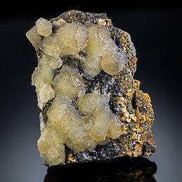 Calcite with Galena, Pyrite, and Baryte - Capital Quarry, Missouri