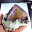 Thumbnail: Fluorite with Sphalerite on Baryte - Minerva #1 Mine, Cave-in-Rock, Illinois.