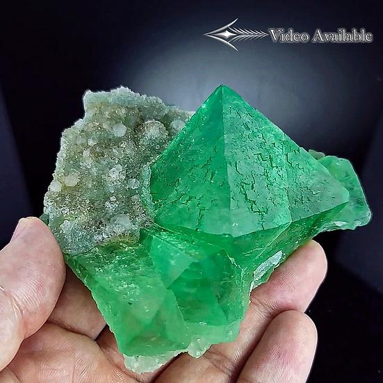 Fluorite with Quartz - Riemvasmaak, Northern Cape, South Africa.