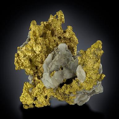 Gold with Quartz - Winnecke Gold Field, Australia.