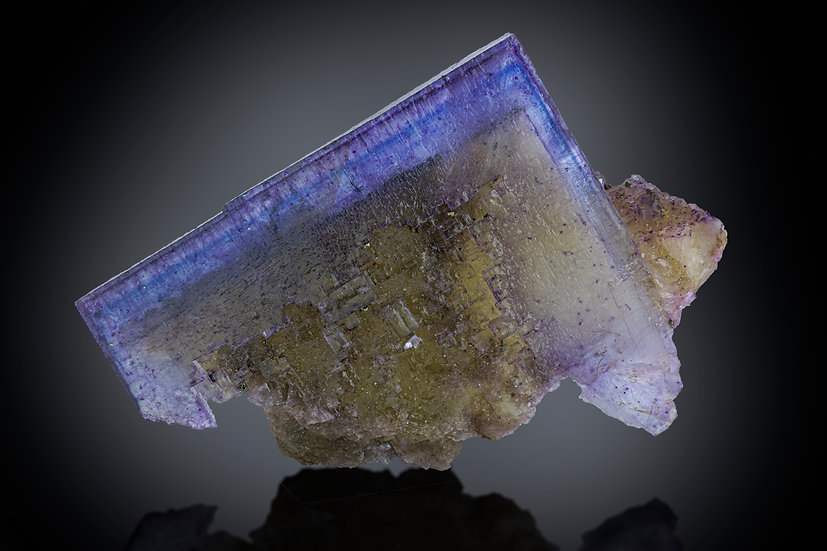 Fluorite with Chalcopyrite Inclusions - Annabel Lee Mine, Illinois