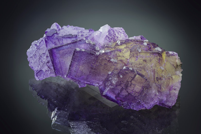 Fluorite with Calcite - Denton Mine, Illinois.
