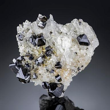 Cassiterite on Quartz - Viloco Mine, Bolivia
