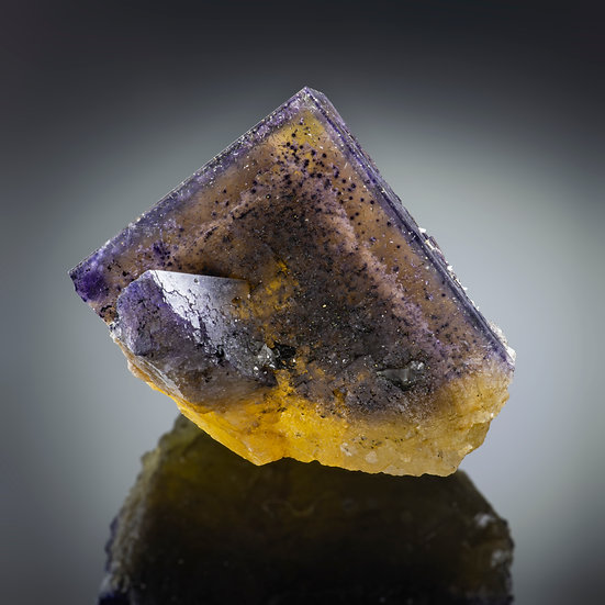 Fluorite with Chalcopyrite - Rosiclare, Illinois