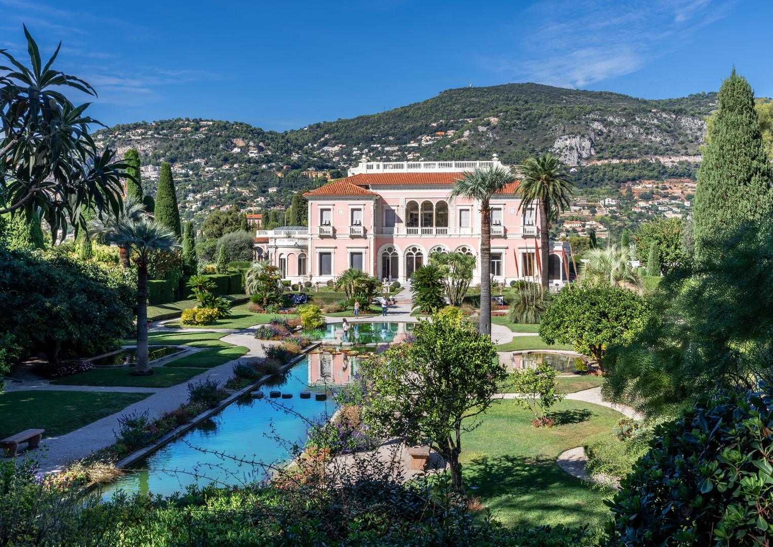 Landscape view of Villa Ephrussi de Roth