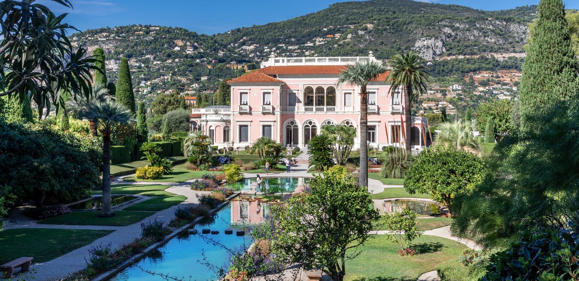 Landscape view of Villa Ephrussi