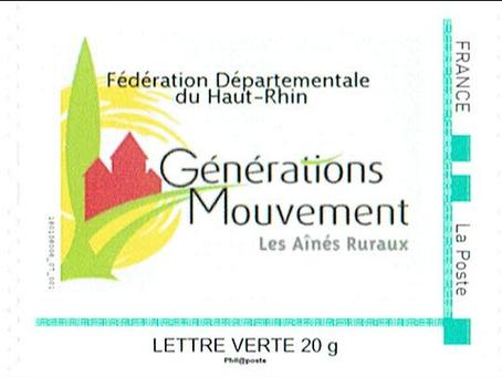 Générations Mouvement 68 a son timbre-poste !