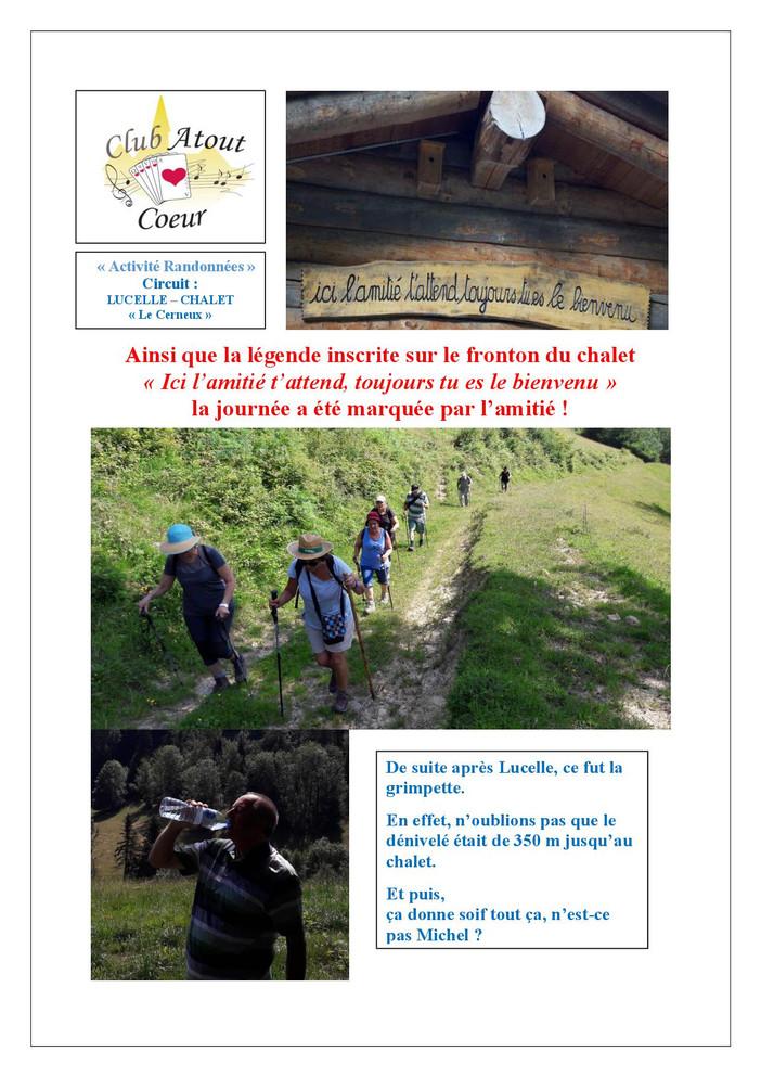 """HIRSINGUE : rando LUCELLE- Chalet """"LE CERNEUX""""   (12 KM - dénivelé 350 m)"""