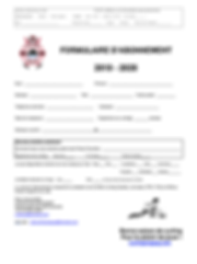 2019-2020 formulaires d'abonnement site