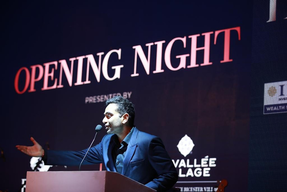 Entrepreneur speaking at an event