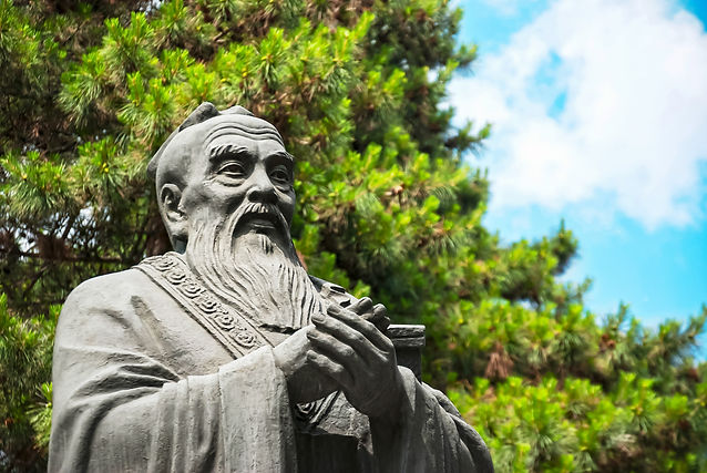 Statue of Confucius, located in Harbin C