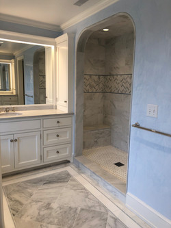 Arched shower opening