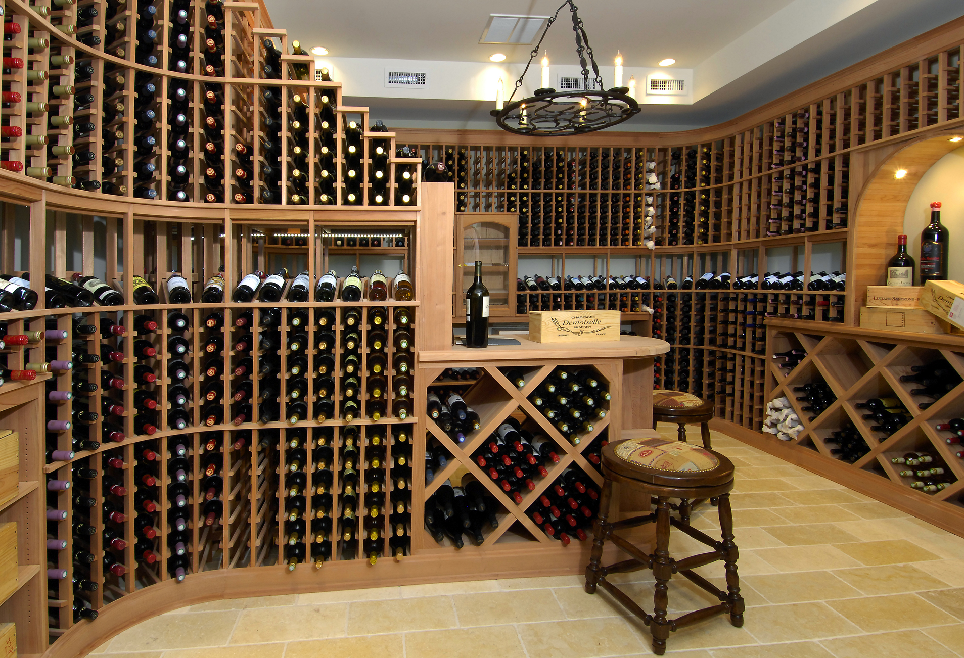 Estate wine cellar