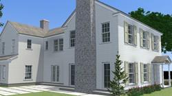 Spec house front left