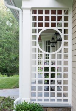 Lattice porch detail