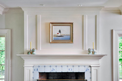 Mantle with paneling