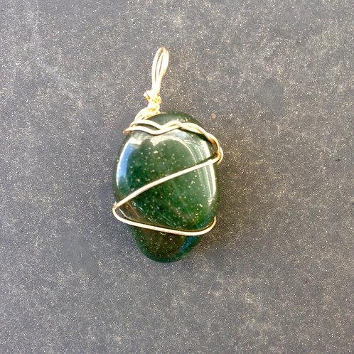 Green Adventurine with Gold