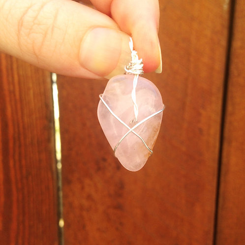Rose Quartz (Small) with Silver
