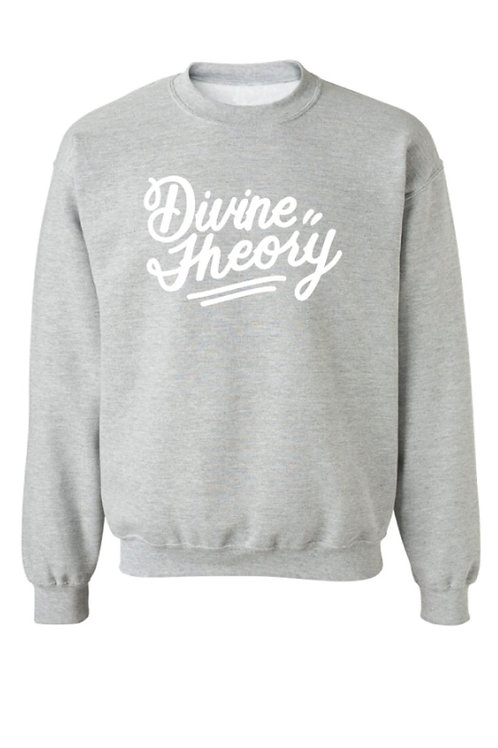 Script crewneck - heather grey