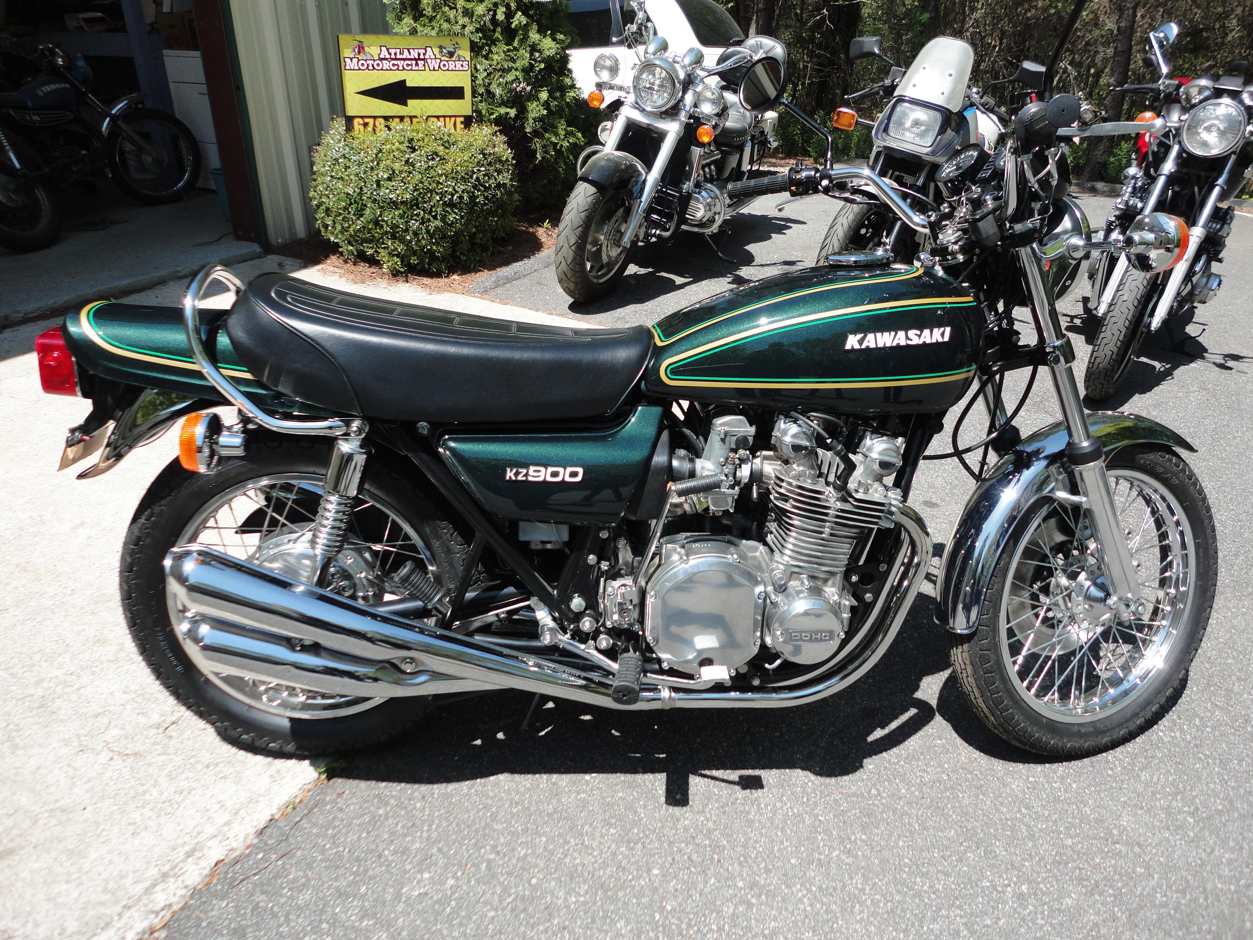 1976 Kawasaki kz 900 after