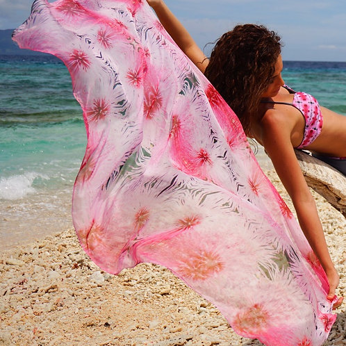 SARONG IN BABY PINK FLOWER PRINT $USD