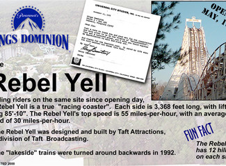 Part 19: Kings Dominion's Rebel Yell - 40 Years of Thrilling Riders and Dodging Political Correctnes