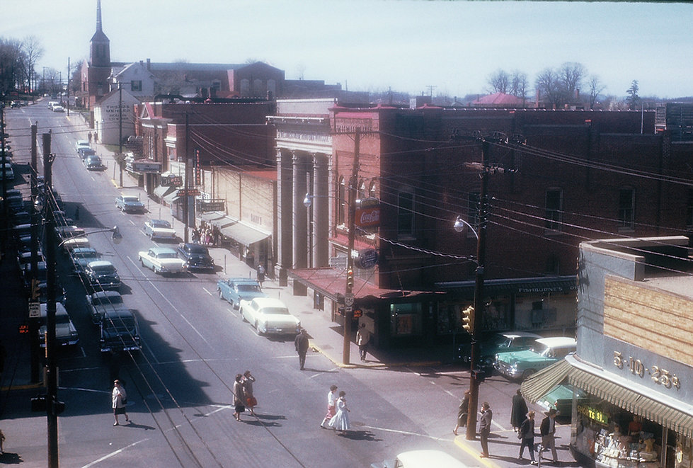 1959 Waynesboro Main Street looking west