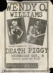 Wendy O Williams and Death Piggy flyer.j