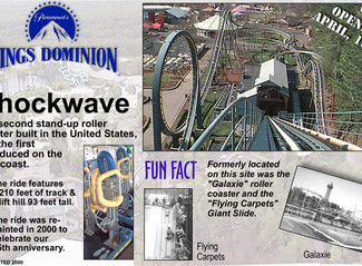 "Part 15: Kings Dominion's Shockwave: ""You can now loop the loop in a standing posture!"" UPDATED:"