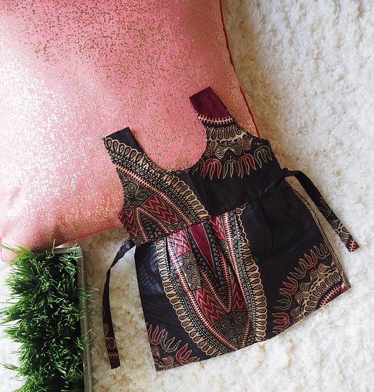 Infant Dashiki Dress Black