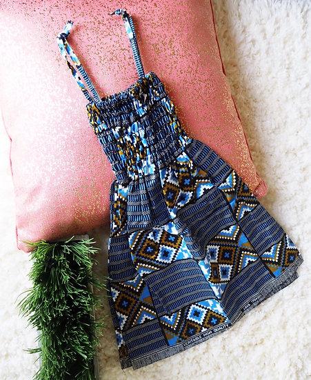Toddler Tribal Blue Dress