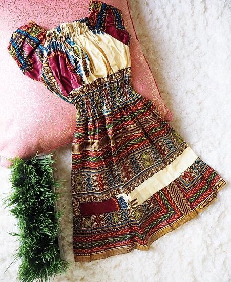 Toddler Dashiki Yellow Dress